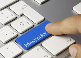 Privacy policy keyboard. Finger